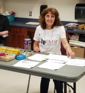 """Preparing the """"Pasta Earthquake"""" activity at a STEM Fair"""