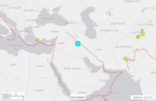 Map of Iraqi Earthquake
