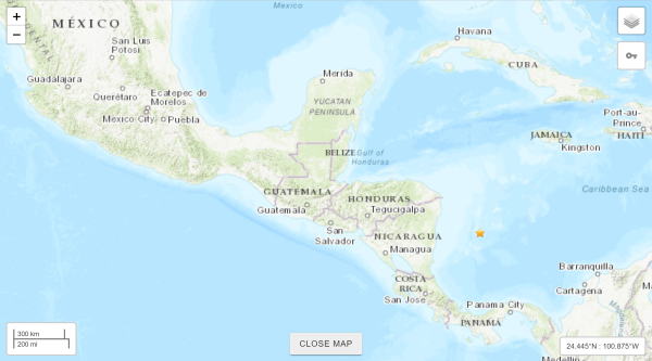 Central American (Columbia) hit twice in 24 hours! Here's